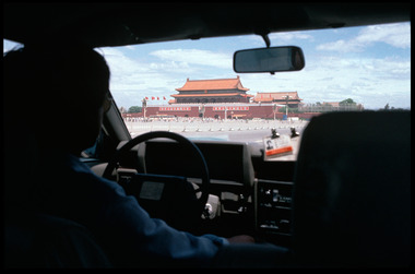 View of Tiananmen Square from Taxi
