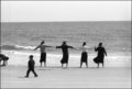 Hassidic Girls on the Beach