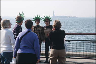 Statue of Liberty & Tourists
