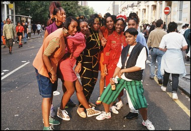 Girls at Notting Hill Carnival