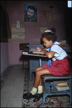 Cuban Schoolgirl, Lenin School, Matanzas, Cuba (1993)