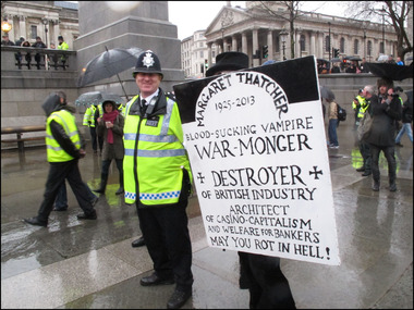 Thatcher death party 13 april 2013 42