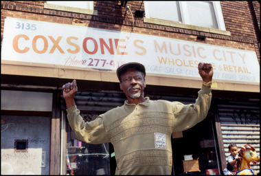 Clement Coxsone Dodd Outside His Brooklyn Record Shop