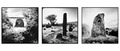 Irish Holed Stones triptych