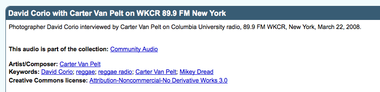 WKCR Radio Interview